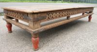 Large Rustic Style Wood Coffee Table - SOLD
